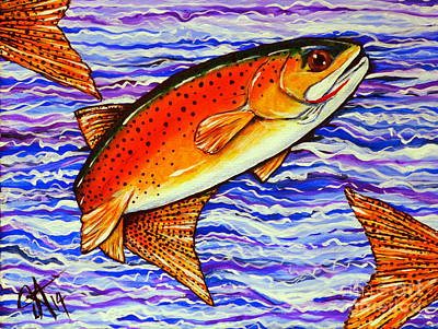 Yellowstone Cutthroat Poster by Jackie Carpenter