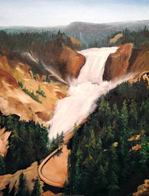 Poster featuring the painting Yellowstone by Ellen Canfield