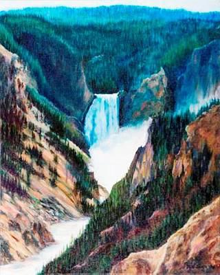 Yellowstone Falls Poster by Patti Gordon