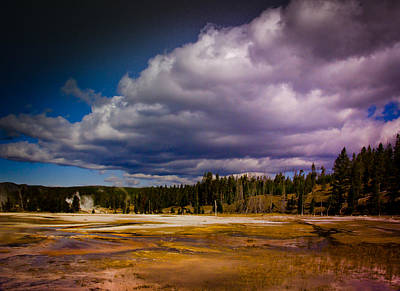 Poster featuring the photograph Yellowstone In October by Janis Knight