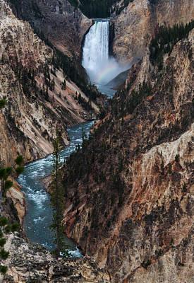 Yellowstone Lower Falls Poster by Rob Hemphill