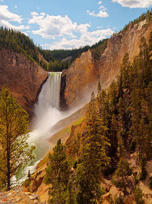Yellowstone River - Lower Falls Poster by Phil Stone
