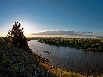 Yellowstone River Sunrise Poster by Leland D Howard