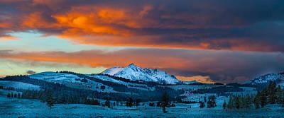 Yellowstone Sunset Poster