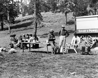 Yellowstone Tourists, C1903 Poster