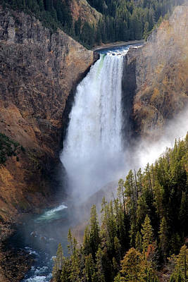 Poster featuring the photograph Lower Yellowstone Falls by Athena Mckinzie