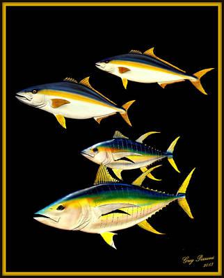 Yellowtail And Yellowfin Tuna Poster