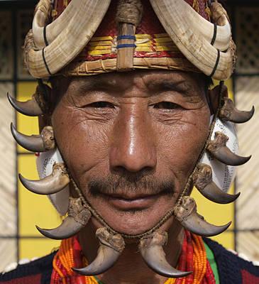 Yimchungru Tribesman During Hornbill Poster