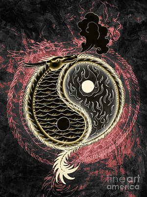 Yin And Yang Graphic Poster by Robert Ball