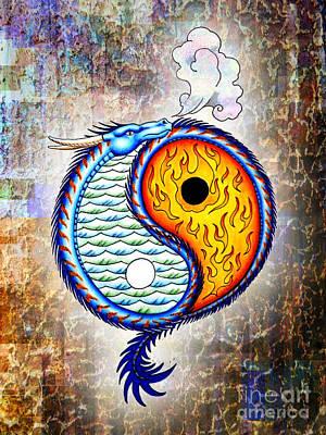 Yin And Yang Textured Poster by Robert Ball