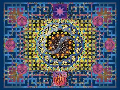 Yin Yang Star Poster