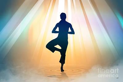 Yoga Balance Poster by Bedros Awak