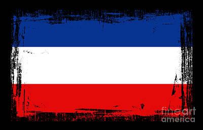 Beautiful Yogoslavia Flag Poster