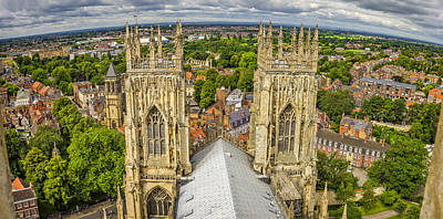 York From York Minster Tower Poster