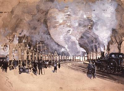 York Railway Station Poster by Library Of Congress