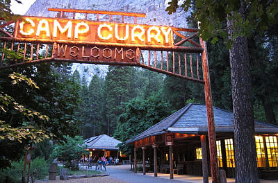 Yosemite Curry Village Poster