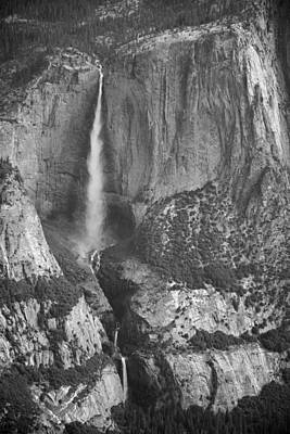 Yosemite Falls From Taft Point Bw Poster by Bruce Gourley