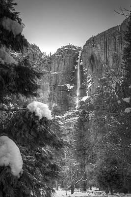 Yosemite Falls In Winter Poster