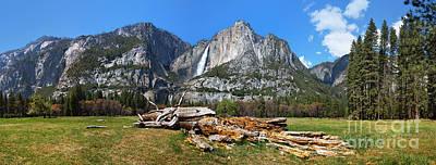 Yosemite Meadow Panorama Poster by Jane Rix