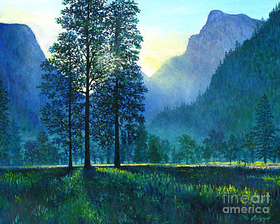 Yosemite Morning  Poster by Lou Ann Bagnall