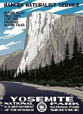 Yosemite National Park Vintage Poster 2 Poster by Eric Glaser