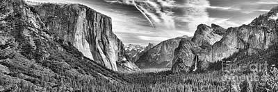 Yosemite Panoramic Poster by Chuck Kuhn