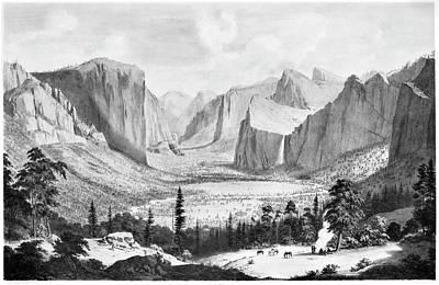 Yosemite Valley, 1855 Poster