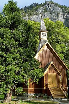 Poster featuring the photograph Yosemite Valley Chapel by Alex King