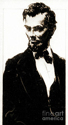 Young Abe Lincoln Sepia 1900 Poster by Padre Art