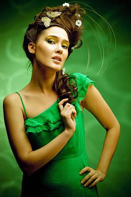 Young Beautiful Woman Portrait Poster by Anna Bryukhanova
