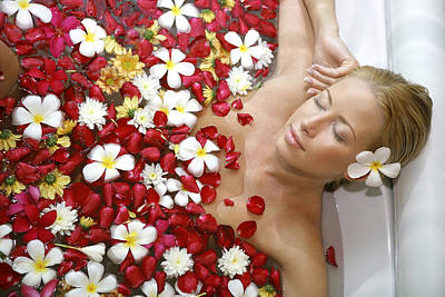 Young Blond Woman Relaxing In Beauty Poster