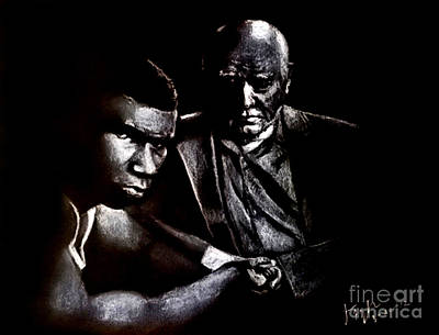 Young Boxer And Soon To Be World Champion Mike Tyson And Trainer Cus Damato Poster by Jim Fitzpatrick