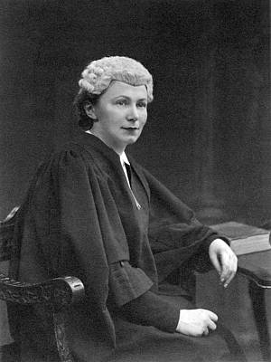 Young British Woman Judge Poster by Underwood Archives