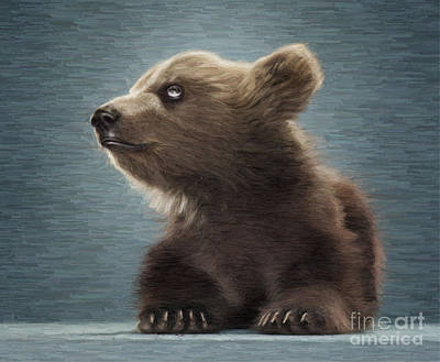 Young Brown Bear Poster by Aleksey Tugolukov