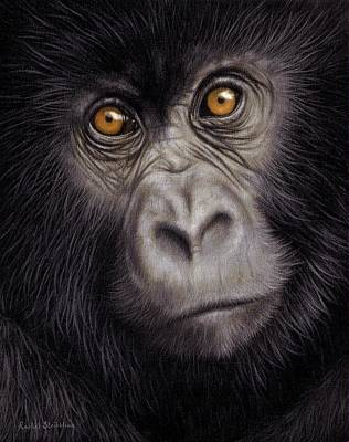 Young Gorilla Painting Poster by Rachel Stribbling