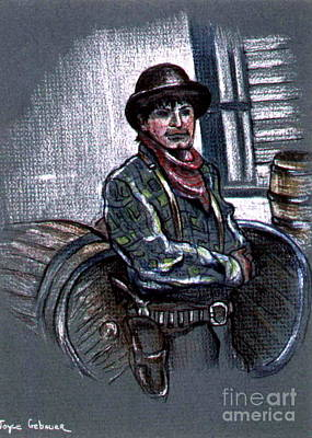 Poster featuring the painting Young Gunfighter by Joyce Gebauer