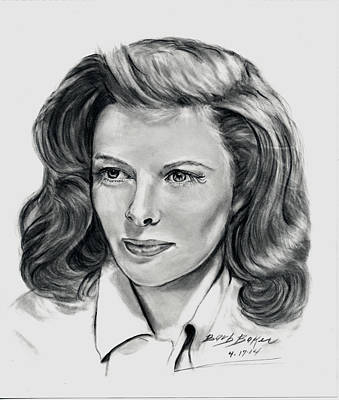 Young Katherine Hepburn Poster by Barb Baker