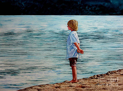 Young Lad By The Shore Poster
