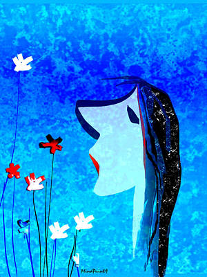 Young Maiden Poster by Asok Mukhopadhyay