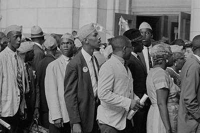 Young Men In Naacp Caps In Front Poster