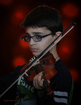 Young Musician Impression # 3 Poster