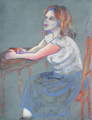 Young Woman Dreaming And Yearning With A Cup Of Coffee Poster