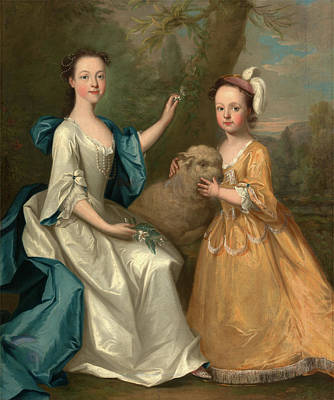 Young Women With A Lamb, Thomas Hudson, 1701-1779 Poster by Litz Collection