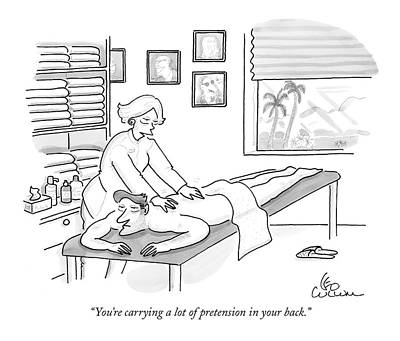 You're Carrying A Lot Of Pretension In Your Back Poster by Leo Cullum