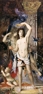 Youth And Death Poster by Gustave Moreau