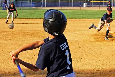 Youth Baseball Poster by David Gilbert