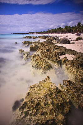 Yucatan Coastline Poster by Adam Romanowicz