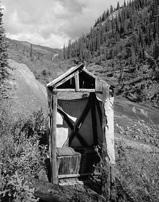 Yukon Alaska Outhouse Poster by Daniel Hagerman