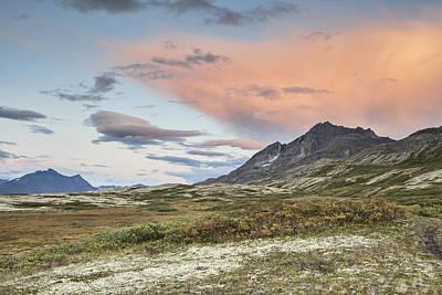 Yukon Mountain Sunset Poster