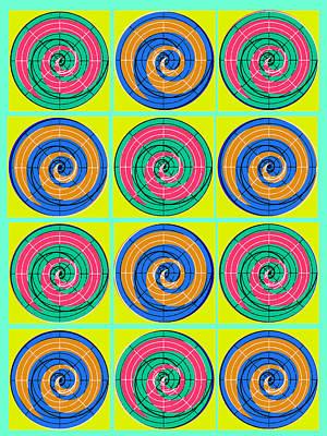 Yum Yums Lifesaver Spiral Orb Circle Bubble Pop A La After Warhol Poster